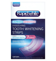 Rapid White Express Sensitive Dissolving Tooth Whitening Strips - 7 Day Supply