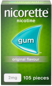 Nicorette Original Nicotine Gum 2mg 105 Pieces (Stop Smoking Aid)