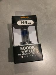 H4 472 Car Headlight Bulb Halfords Advanced White4000 Single Pack