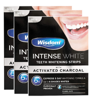 Wisdom Intense White Charcoal Teeth Whitening Strips (3 x 5 Day)