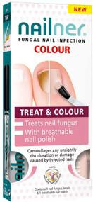 NAILNER Colour Treat & Colour Brush Polish (2 x 5ml) Treats & Prevents Nail Fungus