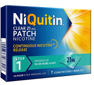 NiQuitin Clear Patch Step 1 Clear 21mg, 7 Patches - Stop Smoking Aid