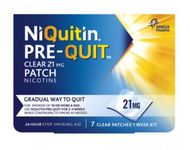 NiQuitin Pre-Quit Clear 24 hour 21mg 7 Patches