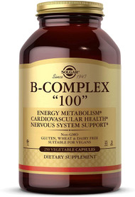 """Solgar Formula Vitamin B-Complex """"100"""" Vegetable Capsules - 250 Vegicaps"""