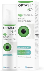 Optase TTO Tea Tree Oil Eye Lid Cleansing Gel 50ml Preservative Free