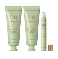 Pixi T-Zone Peel-Off Mask, Pixi Glow Mud Mask & Pixi 24K Eye Elixir Bundle