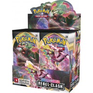 Pokemon Sword & Shield Rebel Clash Booster Box of 36 Packs | New and Sealed