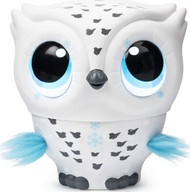 Owleez Flying Baby Owl Interactive Pet Toy - White