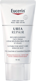 Eucerin Dry Skin Urea Repair Rich Replenishing Face Cream Night 5% Urea 50ml