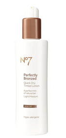 No7 Perfectly Bronzed Self Tan Quick Dry Tinted Lotion Light/Medium 200ml