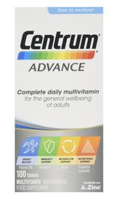 Centrum Advance Multivitamin 100 Tablets