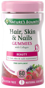 Nature's Bounty Hair Skin & Nails Mixed Berry Flavour 60 Gummies