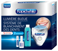 Rapid White Blue Light Tooth Whitening System 5 Shades Whiter In 2 Weeks