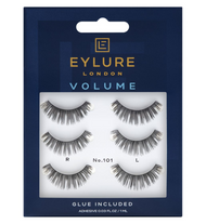 Eylure Volume Strip False Lashes 101 Black (Pack of 3)