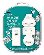 Boots Travel Twin USB Charger