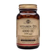 Solgar Vitamin D3 (Cholecalciferol) 4000 IU (100 mcg) 120 Vegetable Capsules