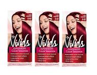 Garnier Color Sensation Vivids Red Hair Dye Permanent 4.62 Fiery Burgundy x 3