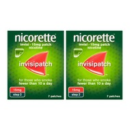 Nicorette InvisiPatch Step 2 15mg 7 Nicotine Patches (Bundle of 2)