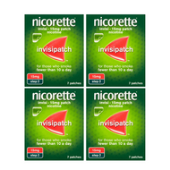 Nicorette InvisiPatch Step 2 15mg 7 Nicotine Patches (Bundle of 4)