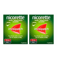 Nicorette InvisiPatch Step 1 25mg 7 Nicotine Patches (Bundle of 2)