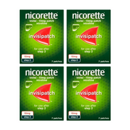 Nicorette InvisiPatch Step 3 10mg 7 Nicotine Patches (Bundle of 4)