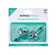 Ring Pro H7 477 Triple Life Car Headlight Bulb Twin Pack