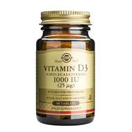 Solgar Vitamin D3 (Cholecalciferol) 1000 IU (25 µg) Tablets - Pack of 90