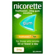 Nicorette Fruitfusion Flavour 2mg 30 Pieces Nicotine Gum