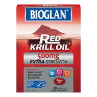 Bioglan Red Krill Oil 500mg Extra Strength 30 Capsules