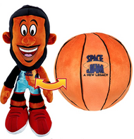 "Space Jam 2: A New Legacy - Transforming Plush - 12"" LeBron James into a Soft Plush Basketball"