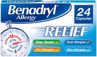 Benadryl Allergy Relief 24 Capsules