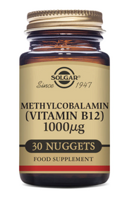 Solgar Methylcobalamin (Vitamin B12) 1000µg 30 Nuggets