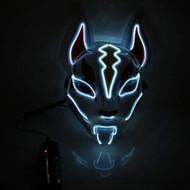 Scary Fox Purge LED Face Mask - White