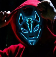 Scary Fox Purge LED Face Mask - Light Blue