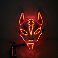 Scary Fox Purge LED Face Mask - Orange