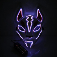 Scary Fox Purge LED Face Mask - Purple