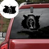 Scary Halloween Car Window Decal Sticker - Silent Skull