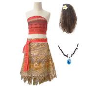 Girls Moana Summer Princess Costume