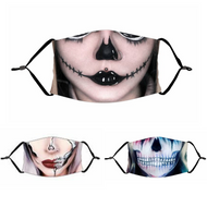 Halloween Face Mask for Adults - 3 Colours