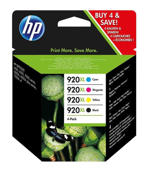 HP 920XL Multipack Yield Black/Cyan/Magenta/Yellow Original Ink Cartridges