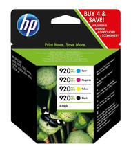HP 920XL Multipack Yield Black/Cyan/Magenta/Yellow Original Ink Cartridges