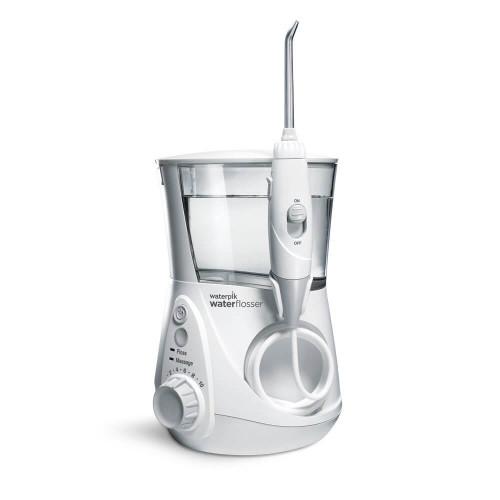 Waterpik WP-660UK Ultra Professional Water Flosser - White Edition (UK 2-Pin Bathroom Plug)