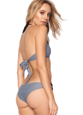 Beach Riot Springs Bottom In Blue Stripe model shot back view