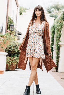 Sage The Label Night Fever Duster In Dark Rust
