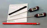 (TP)  General Lab Digitial Thermometers With N.I.S.T. Traceable Cert. ACC310DIG