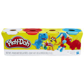 Play Doh Single Tubs 4-Pack