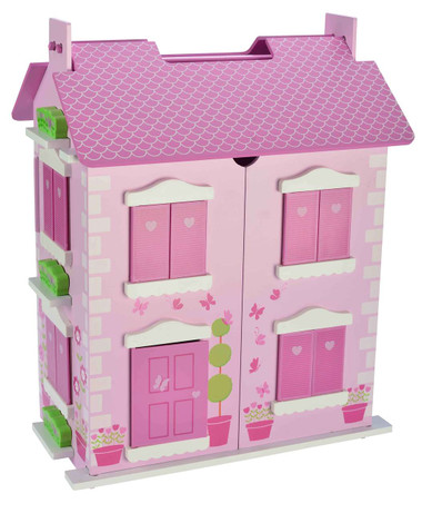 Bubbadoo Wooden Doll House Image 1 Pastel