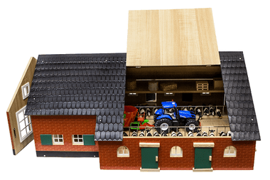 1:32 Scale Farmhouse image open roof. Fits siku type vehicles.