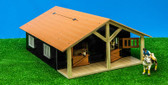1:24 Horse Stable wood with 2 boxes & workshop