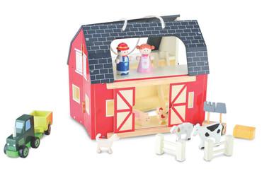Bubbadoo Wooden Toy Farm Playset Image